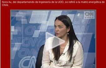 Nora Au, Vicedecana de la Facultad de Ingeniería habla sobre la matriz energética para CNN Chile.