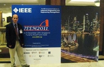 Académico de Ingeniería participó en conferencia en Singapur
