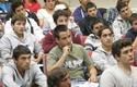 Alumnos de primer año de Ingeniería en la UDD. Santiago.