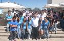 Decano José Manuel Robles con nuevos alumnos y miembros del CAI. Santiago.