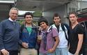 Decano José Manuel Robles y alumnos novatos de Concepción.
