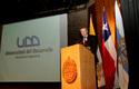 Rector Federico Valdés en la inauguración.