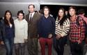 Fernando Ahumada y sus alumnos.