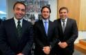 Rodrigo Arellano, Emilio Armstrong y Jaime Weinborn