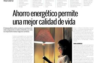 Ahorro energético permite una mejor calidad de vida