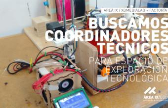 Llamado coordinadores técnicos para espacio de exploración tecnológica Área IX en sede Concepción