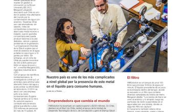 Chilena creó este súper filtro para limpiar agua tóxica