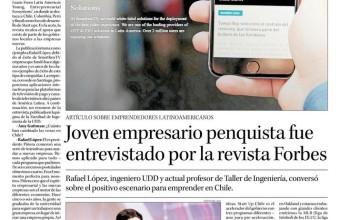 Joven empresario penquista fue entrevistado por la revista Forbes