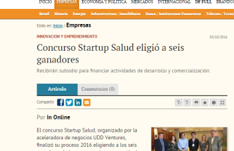Hiri se adjudicó premio Start Up Salud