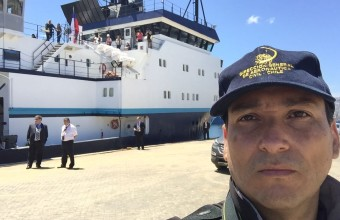 Alex Godoy visita buque R/V Marcus G. Langseth
