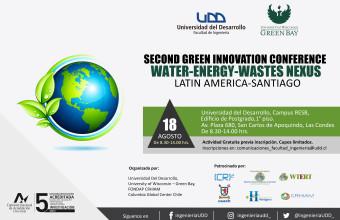 Se realizará el Second Green Innovation Conference: Water-Energy- Wastes Nexus