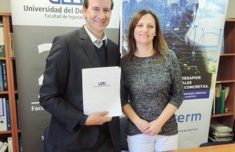 Facultad de Ingeniería UDD y empresa Proterm firman convenio de cooperación