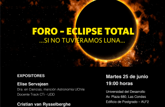 Inscríbete en el Foro Eclipse Total de UDD Vecina