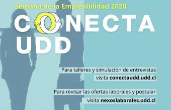 Participa de las entrevistas, charlas y ofertas laborales de Conecta UDD 2020