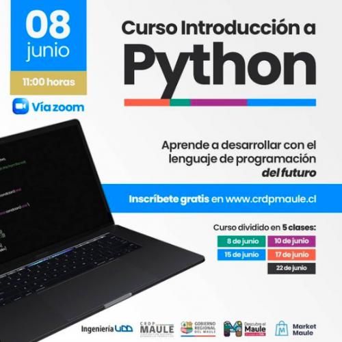 Dirección de Innovación junto a CRDP Maule realizaron Curso de Introducción a Python